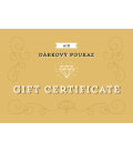 Gift certificates in various values