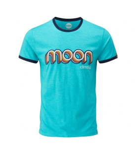 Moon Ringer T-shirt Blue - S