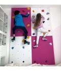 Children climbing wall